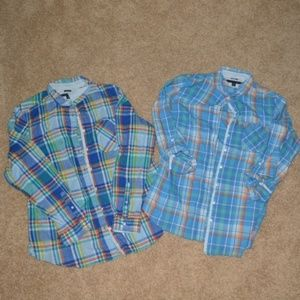 2 Womens Tommy Hilfiger XL Relaxed Fit Shirts